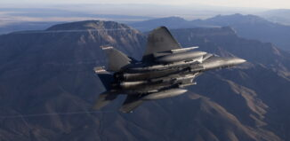 F-15 Eagle fighter aircraft with StormBreaker smart weapon