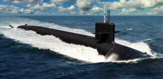 US Navy Columbia class submarine