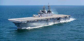 US Navy amphibious assault ship