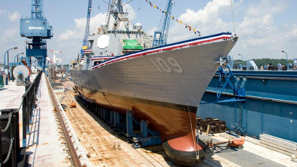 USS Arleigh Burke-class Surface Ship Sonar Domes (photo Collins Aerospace).