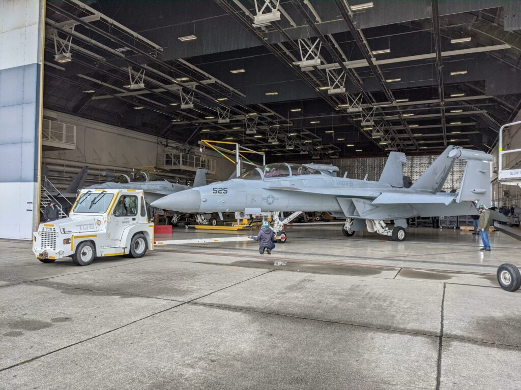 The_first_EA-1G_is_inducted_into_Growler-capability_Modification